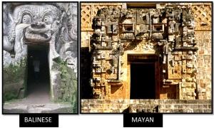 Goa-Gajah-temple-Elephant-Cave-Mayans-Pyramid-of-Uxmal-Magicians